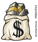 money bag with dollar sign...