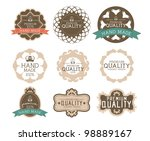 vintage label style with nine... | Shutterstock .eps vector #98889167