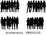 beautiful women   fashion | Shutterstock .eps vector #98893133