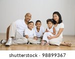 portrait of multi ethnic family ... | Shutterstock . vector #98899367