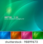 Curvy Abstract Background. A...