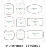 vintage retro label set | Shutterstock .eps vector #98900813