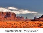 peaks of rock formations in the ...   Shutterstock . vector #98912987