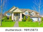 a modern custom built luxury...   Shutterstock . vector #98915873