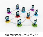 network concept.isolated on... | Shutterstock . vector #98924777