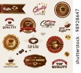 coffee labels and elements | Shutterstock .eps vector #98928647
