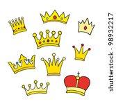hand drawn crowns | Shutterstock . vector #98932217