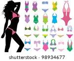 bikini fashion | Shutterstock .eps vector #98934677