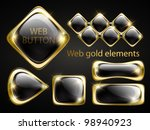 golden shiny modern elements.... | Shutterstock .eps vector #98940923