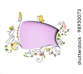 color speech bubble with floral ... | Shutterstock .eps vector #98950073