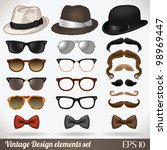 vintage design elements set ... | Shutterstock .eps vector #98969447