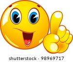 attention gesture. | Shutterstock .eps vector #98969717