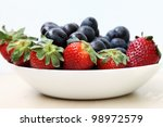 Fresh fruits for salad - stock photo