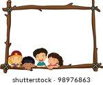 Illustration Of Wooden Stick...