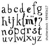 vector alphabet. hand drawn... | Shutterstock .eps vector #98985617