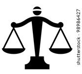 vector icon of justice scales | Shutterstock .eps vector #98986427