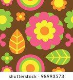seamless flower pattern. vector ...   Shutterstock .eps vector #98993573