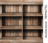 empty wood shelf. grunge... | Shutterstock . vector #98996753