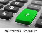 closeup of calculator button on a background - stock photo