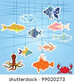 fishes | Shutterstock .eps vector #99020273