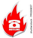 hotline vector emblem  eps10...   Shutterstock .eps vector #99030857