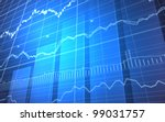 stock market graph and bar chart | Shutterstock . vector #99031757
