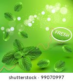 vector green background with... | Shutterstock .eps vector #99070997