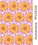 flower seamless pattern | Shutterstock .eps vector #99135143