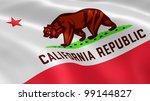 californian flag in the wind. | Shutterstock . vector #99144827