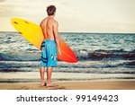 professional surfer holding a... | Shutterstock . vector #99149423