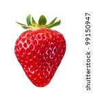 Single Fresh Red Strawberry...