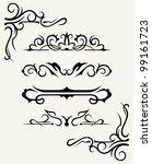 vintage design elements | Shutterstock .eps vector #99161723