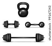 barbell  dumbbells and... | Shutterstock .eps vector #99167243