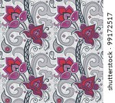 decorative floral seamless... | Shutterstock .eps vector #99172517