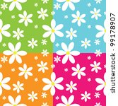 seamless pattern of daisies | Shutterstock .eps vector #99178907