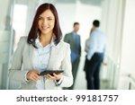 business woman standing in... | Shutterstock . vector #99181757