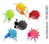 Colorful Ink Splats
