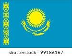 kazakhstan flag | Shutterstock .eps vector #99186167