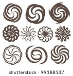 swirl icon vector set
