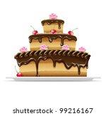 sweet chocolate cake for...
