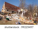 A Home Heavily Damaged By An F...