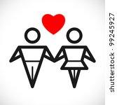 couple in love sign | Shutterstock .eps vector #99245927