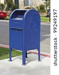 Drop box for mail in a residential neighborhood. - stock photo