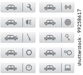auto service signs and icons... | Shutterstock .eps vector #99258617