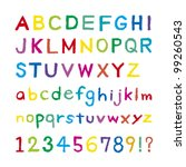 font was drawn with a crayon | Shutterstock .eps vector #99260543