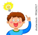 boy coming up with a good idea  ... | Shutterstock . vector #99262517