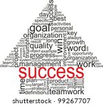 success concept related words... | Shutterstock .eps vector #99267707
