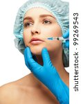 cosmetic injection to a womans... | Shutterstock . vector #99269543