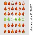 creative medic blood drops set... | Shutterstock .eps vector #99270887