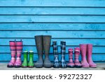 Six Rubber Boots Gardening Boots